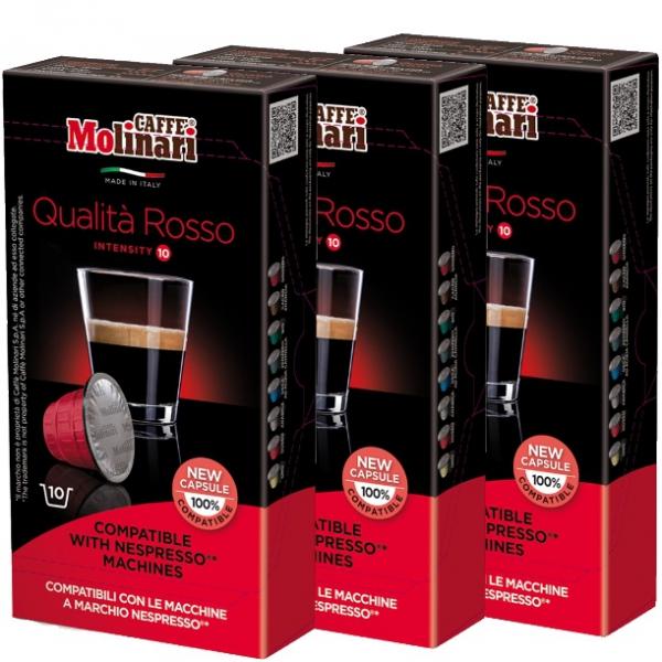 caff molinari espresso kapseln rosso geeignet f r nespr. Black Bedroom Furniture Sets. Home Design Ideas