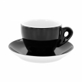 Thick-walled cappuccino cups »Latteccino Nero«, 6 items